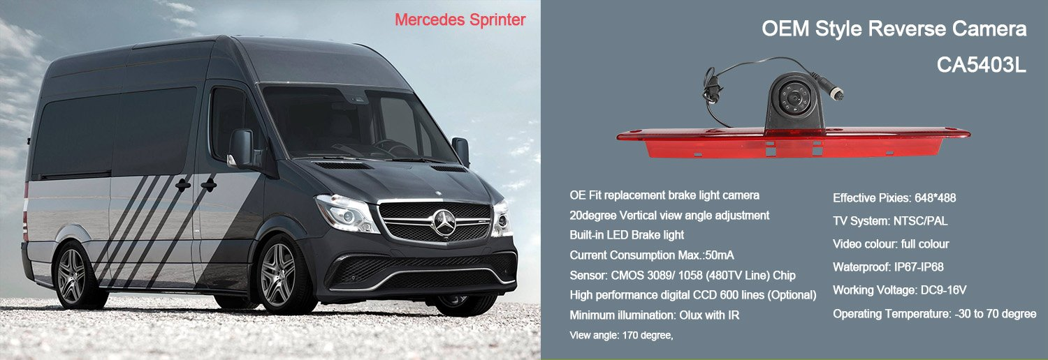 Brake light CCD Reversing Camera For Mercedes-Benz Sprinter / VW Crafter Vans